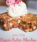 Brown Butter Deep Dish Blondies