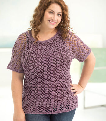 How To Make A Curvy Girl Openwork Top Down Pullover