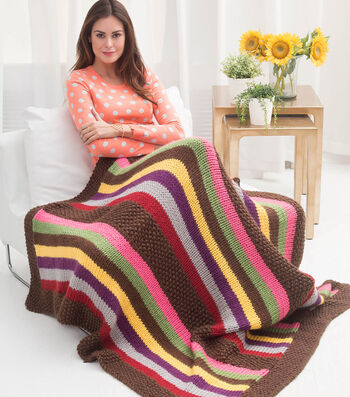 How To Knit An Amish Stripe Afghan