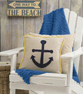 Felted Anchor Pillow