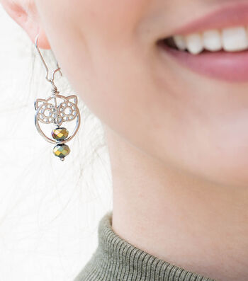 How To  Make Owl Earrings