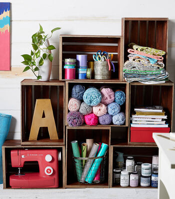 How To Make A Craft Room Crate Wall