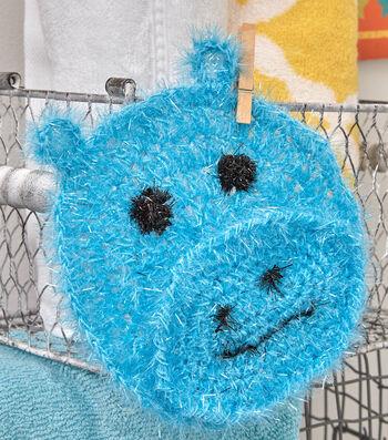 Make A Happy Hippo Face Scrubby