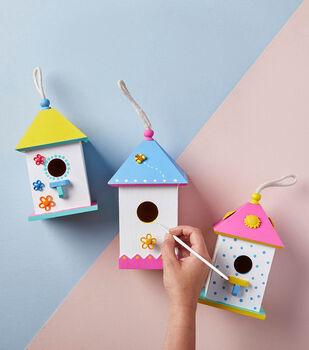 Make Painted Bird Houses