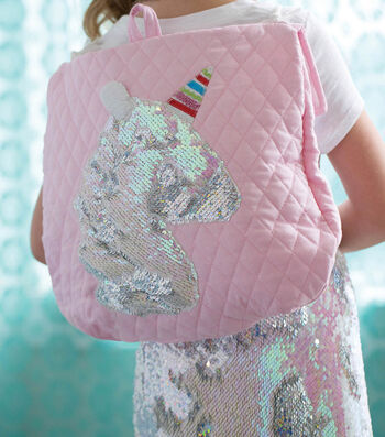 Make A Reversable Sequin Unicorn Backback