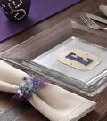 Monogrammed Place Mats and Tulle Napkin Rings