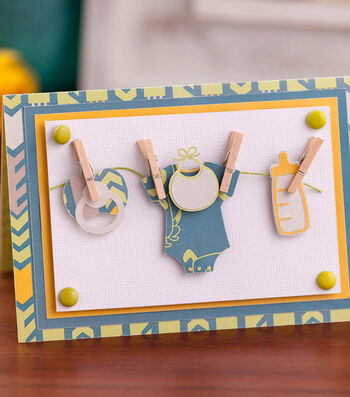 Make A Cricut Baby Card