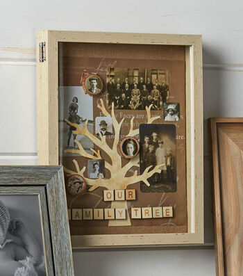 How To Make A Family Tree Shadow Box