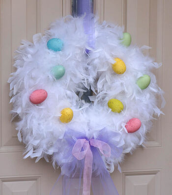 Craft A Fluffy Egg Wreath