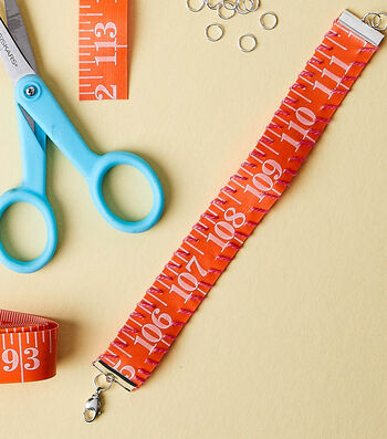 Make A Tape Measure Bracelet