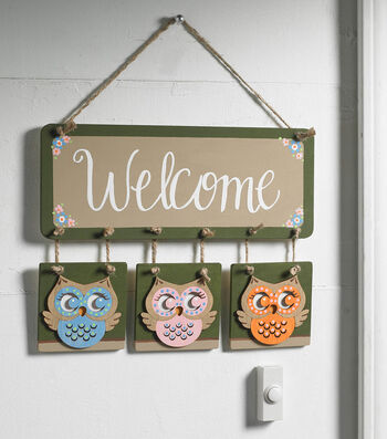 How To Make An Owly Welcome Plaque