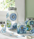 Modern Blossoms Glass Canister Set, Martha Stewart