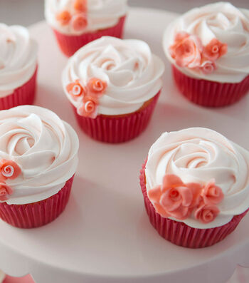 How To Make Rosy Fontant Cupcakes