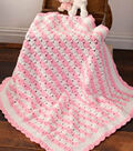 Pink and White Baby Blanket
