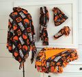 Browns Poncho, Scarf, Hat, Headband and Blanket Set