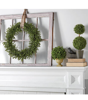 How To Make A Framed Boxwood Mantelpiece