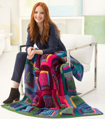 How to Knit a Mountain Cabin Afghan