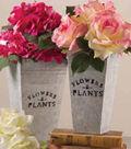 Peony and Tin Planter Arrangement