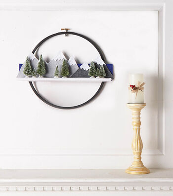 How To Make A Mountainscape Embroidery Hoop