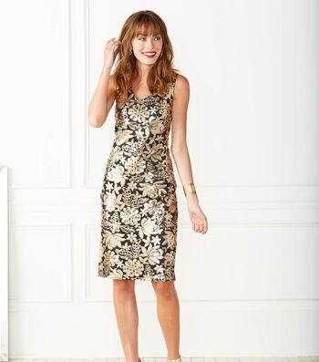 Floral Sequin Dress