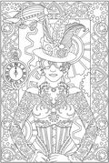 Dover Creative Haven Steampunk Designs Sample Coloring Printables