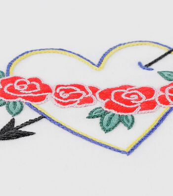 How To Make A Heart and Arrow Embroidery