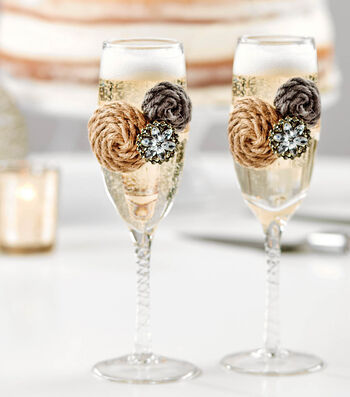 How To Make Bridal Toasting Glasses