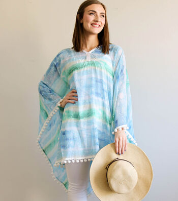 Kathy Davis By the Sea Chiffon Beach Poncho