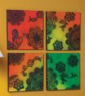 Neon Doily & Lace Canvas