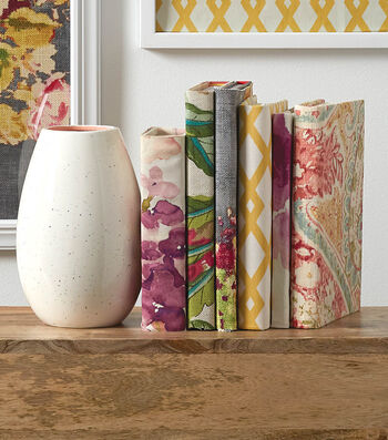 How To Make  Fabric Covered Books
