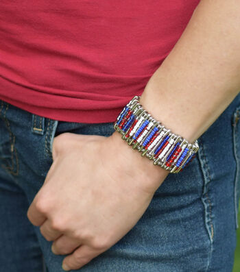 Make An Americana Safety Pin Cuff