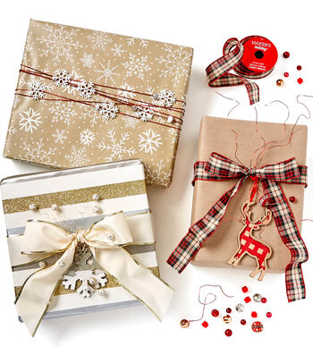 How To Make Holiday Gift Wrapping with Beads and Ribbon