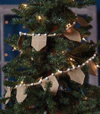 How To Make A Burlap Tree Garland