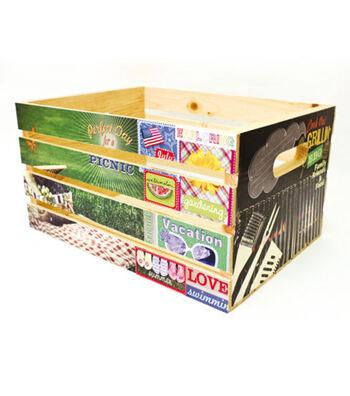 Decoupage Picnic Crate