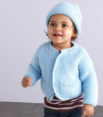 Knit A Simple Style Baby Cardigan and Hat