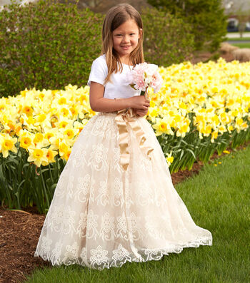 How To Make A Flower Girl Skirt