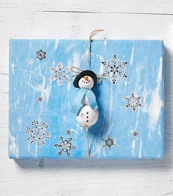 Snowman Clay Canvas Giftwrap