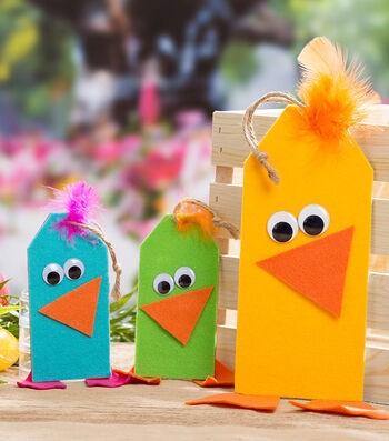Make Colorful Chick Tags