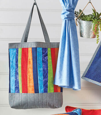 How To Make Quilted Tote with Uneven Stripes