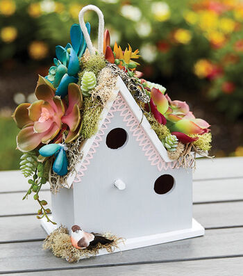 How To Make A Succulent Birdhouse