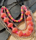 Neoteric Neon Multi Strand Necklace