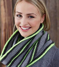 CROCHETED BRIGHT LIGHTS STRIPED COWL