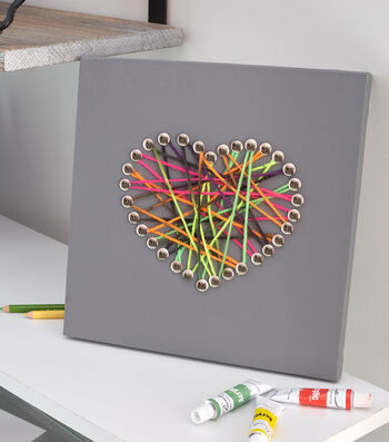 Make Canvas Yarn Art