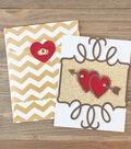 Gold Valentine and Envelope