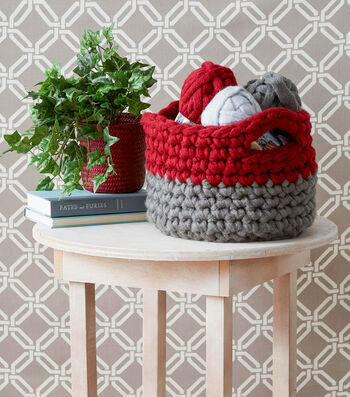 How To Crochet A Colorblock Basket