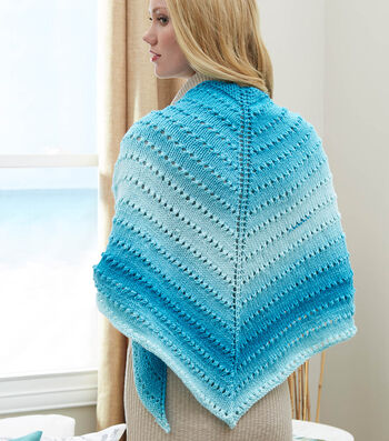 How To Knit A Simple Lace Triangle Shawl