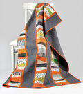 Grey and Orange Quilt