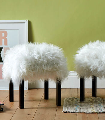 How To Make Furry Footstools