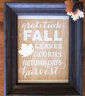 Wood Fall Framed Art