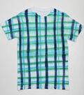 Moody Blue Plaid T-Shirt
